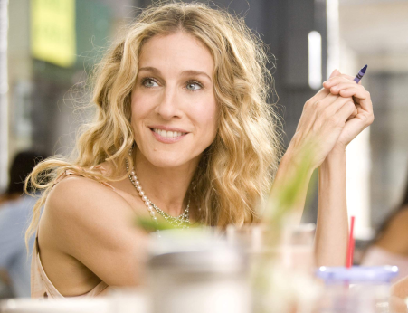 "Sarah Jessica Parker as Carrie Bradshaw in ""Sex and the City."" Photo taken from Google."