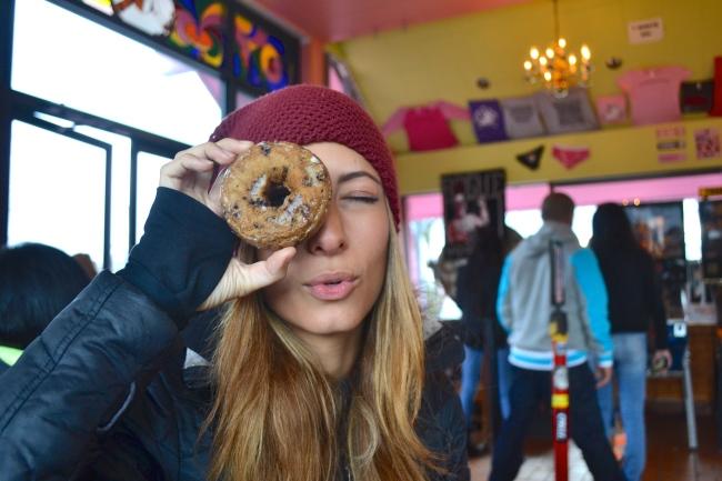 Flojo with donut